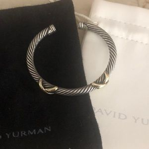 David Yurman double X two toned bracelet bangle